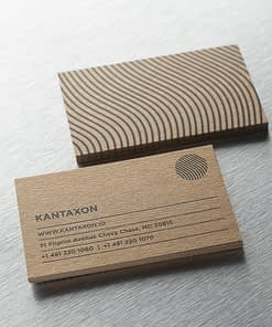Thick kraft business card