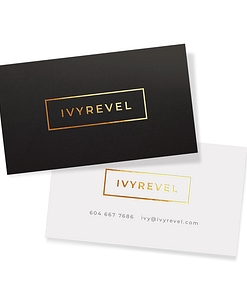 Foil peachy soft touch business cards