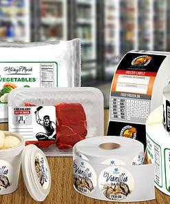 Permanent polypropylene base glossy freezer label