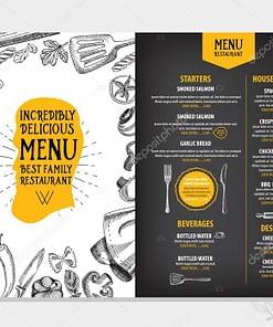 Plastic restaurant menus