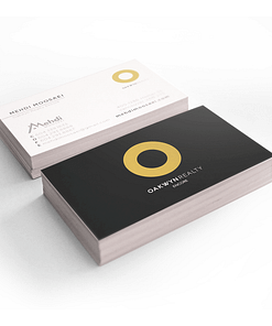 Peachy soft touch business card