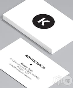 Thick white synthetic durable business card