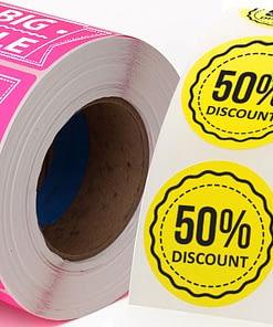 Permanent paper base fluorescent label